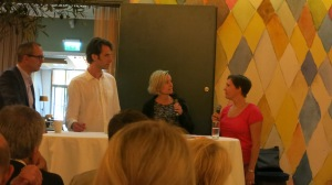 Från vänster: Michael, Johan, Åsa & jag. Foto: Inga-Lill Lellky